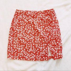 Shein Floral Slit Skirt